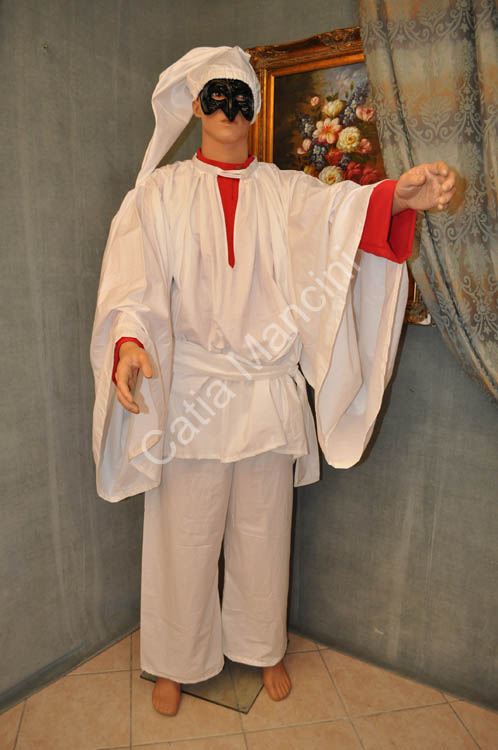 Costume adulto pulcinella commedia dell 39 arte 4 for O giardino di pulcinella roma