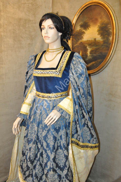 Costume-medievale-donna / abbigliamento donna del medioevo (7)