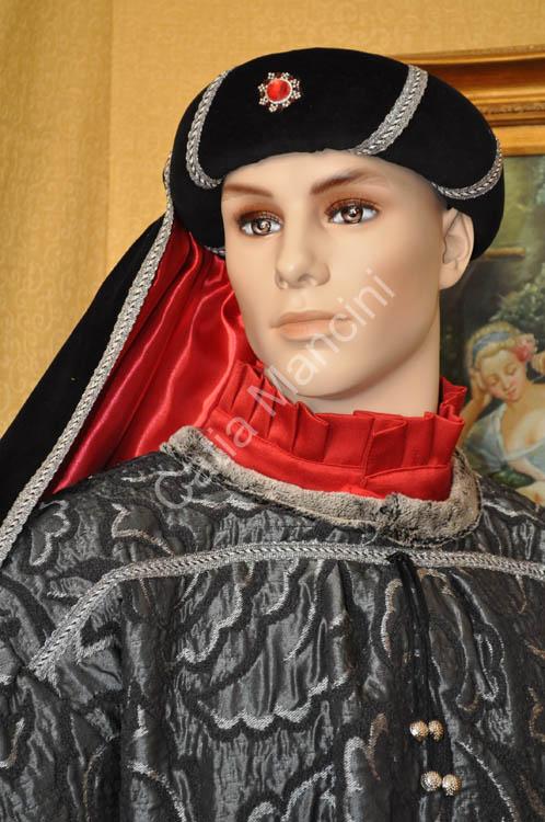 Costume Uomo Medievale con copricapo (4) 13629d878336